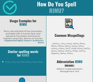 Correct spelling for rimu