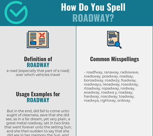 Correct spelling for roadway