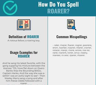 Correct spelling for roarer