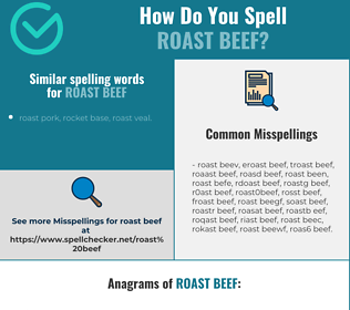 Correct spelling for roast beef