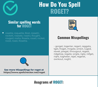 Correct spelling for roget