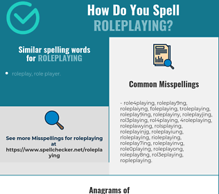 Correct spelling for roleplaying