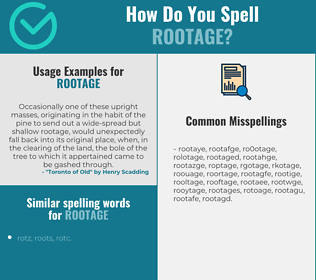 Correct spelling for rootage