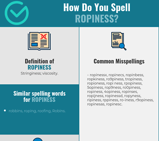 Correct spelling for ropiness