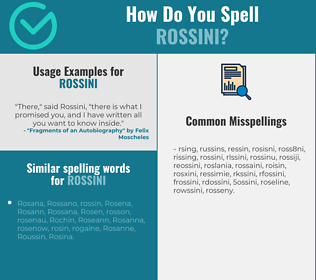 Correct spelling for rossini