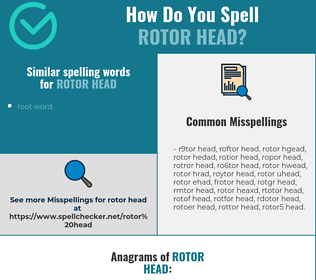 Correct spelling for rotor head