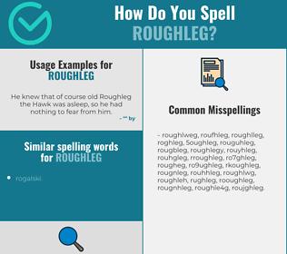 Correct spelling for roughleg