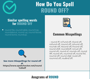 Correct spelling for round off