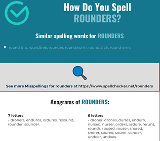 Correct spelling for rounders