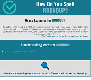 Correct spelling for roundup