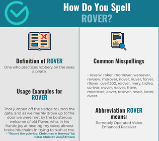 Correct spelling for rover