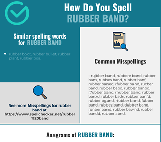 Correct spelling for rubber band