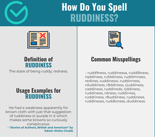 Correct spelling for ruddiness