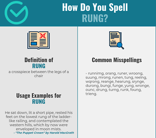 Correct spelling for rung