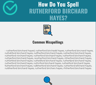Correct spelling for Rutherford Birchard Hayes
