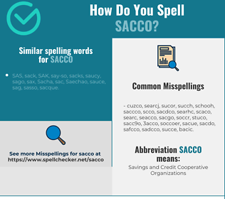 Correct spelling for sacco