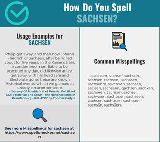 Correct spelling for sachsen