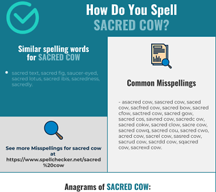 Correct spelling for sacred cow
