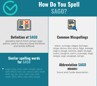 Correct spelling for sago
