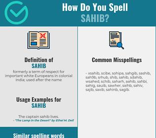 Correct spelling for sahib