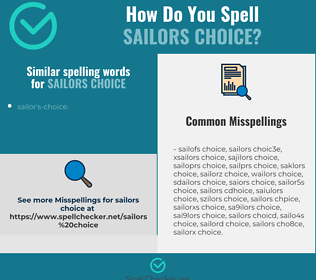 Correct spelling for sailors choice