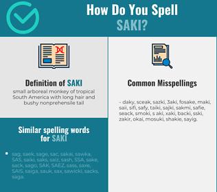 Correct spelling for saki