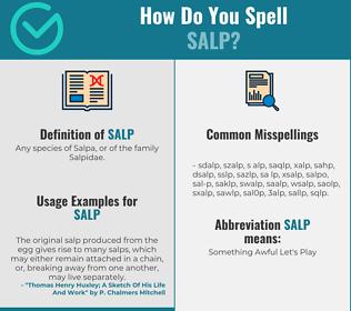 Correct spelling for salp