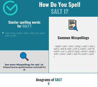 Correct spelling for salt i