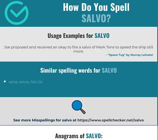 Correct spelling for salvo