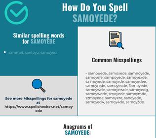 Correct spelling for samoyede