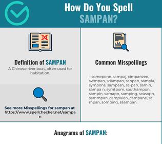 Correct spelling for sampan