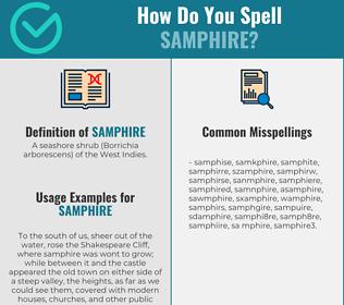 Correct spelling for samphire