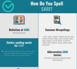 Correct spelling for sari