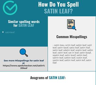 Correct spelling for satin leaf