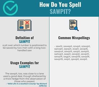 Correct spelling for sawpit