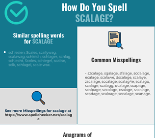 Correct spelling for scalage