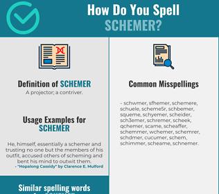 Correct spelling for schemer