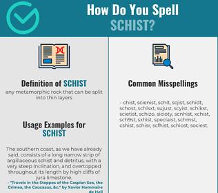 Correct spelling for schist
