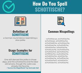Correct spelling for schottische