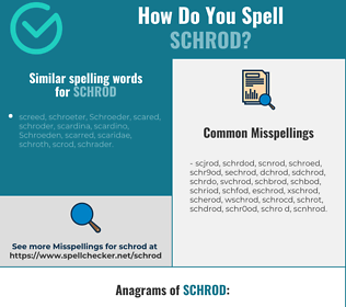 Correct spelling for schrod