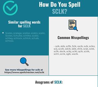 Correct spelling for sclk