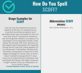 Correct spelling for scoff