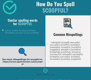 Correct spelling for scoopful