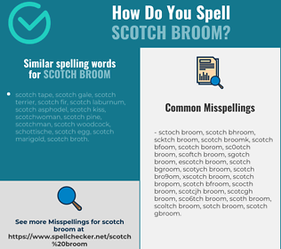 Correct spelling for scotch broom