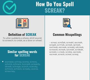 Correct spelling for screak