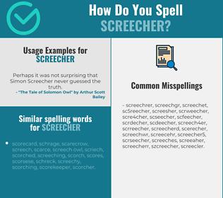 Correct spelling for screecher