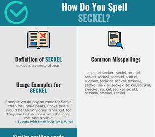 Correct spelling for seckel