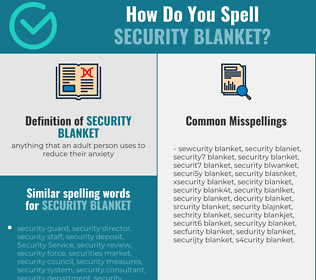 Correct spelling for security blanket