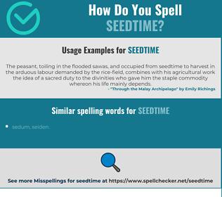 Correct spelling for seedtime