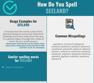 Correct spelling for seeland